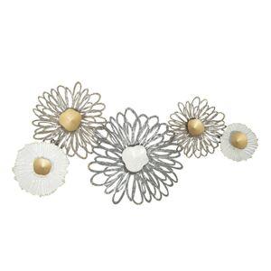 Nástěnná kovová dekorace Flowers - 88*6*46 cm Clayre & Eef