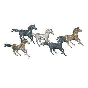 Nástěnná kovová dekorace Horses - 119*6*49 cm Clayre & Eef