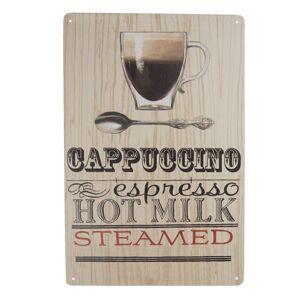 Nástěnná plechová cedule Cappuccino - 20*30 cm