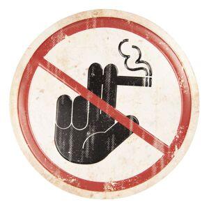Nástěnná plechová cedule Zákaz kouření - ∅ 35 cm