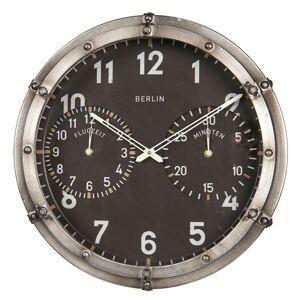 Nástěnné hodiny Berlin v leteckém stylu - Ø 46*17 cm Clayre & Eef