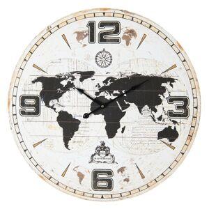 Nástěnné hodiny Mappemonde - Ø 60*5 cm Clayre & Eef