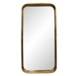 Nástěnné zrcadlo se zlatým rámem - 28*3*56 cm