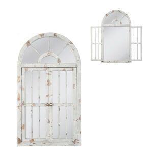 Nástěnné zrcadlo ve vintage stylu / okno - 108*60*3 cm Clayre & Eef