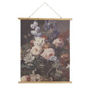Nástěnný plakát zobracující malbu zátiší květin a ovoce - 80*2*100 cm