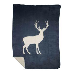 Oboustranný pléd s motivem jelena - 130*180*3cm