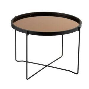 Odkládací kulatý kovový stolek Cofee - Ø59*45cm J-Line