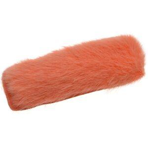 Oranžová chlupatá sponka do vlasů  - 3*7,5cm