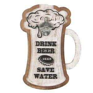 Nástěnný otvírák Drink Beer - 26*4*36 cm