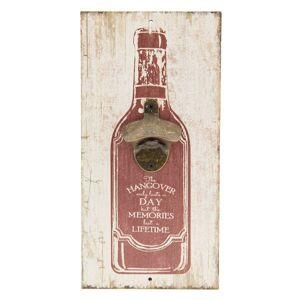 Otvírák na láhve na zeď - 15*30cm Clayre & Eef