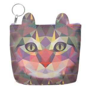 Barevná peněženka s kočičkou- 12*13 cm