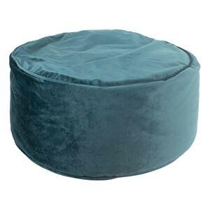 Petrolejový sametový pouf / sedák na zem - Ø 60*30cm