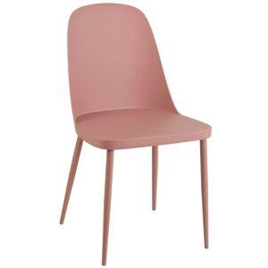 Plastová růžová jídelní židle Leo - 54*46*80 cm J-Line