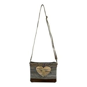 Plátěná crossbody kabelka přes rameno Hearth Wood - 23*18*2cm