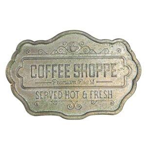 Plechová nástěnná cedule Coffee Shop - 45*30 cm Clayre & Eef