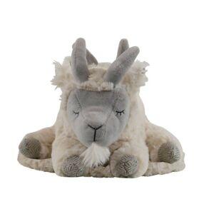 Plyšová hračka bílá spící koza - 25cm