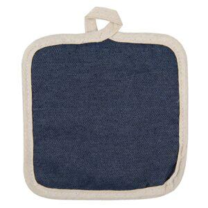 Podložka pod hrnec v tmavě modrém denim provedení - 16*16 cm Clayre & Eef