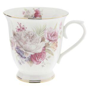 Porcelánový hrnek s květy -  Ø 12*9*10 cm Clayre & Eef