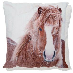Povlak na polštář REAL ANIMALS Kůň - 45*45 cm Clayre & Eef