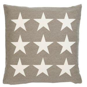 Khaki povlak na polštář s hvězdami Stars - 50*50cm Clayre & Eef