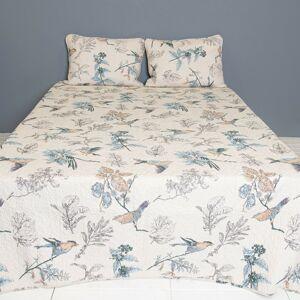Přehoz na dvoulůžkové postele s 2povlaky Birds - 230*250/ (2) 50*70 cm Clayre & Eef