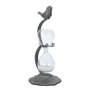 Přesýpací hodiny s ptáčkem - 9*9*21 cm Clayre & Eef
