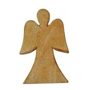 Přírodní dřevěný anděl Anjael - 25 cm Ostatní