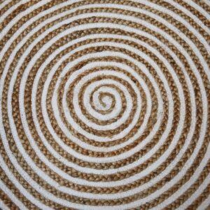 Přírodní jutový koberec Abra Ø125 cm Collectione