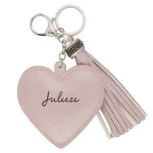 Přívěsek na klíče Heart tassel pink  Juleeze
