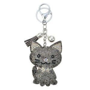 Přívěšek na klíče kočička s kamínky