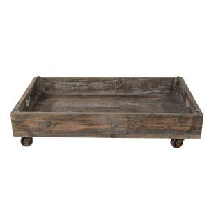 Retro dřevěný podnos na kolečkách - 73*44*16 cm Clayre & Eef