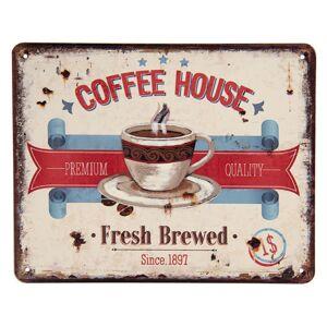Retro plechová cedule Coffee House - 25*20 cm