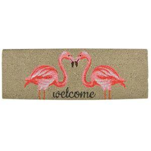 Rohožka s plameňáky Flamingo - 75*25 cm Esschert design