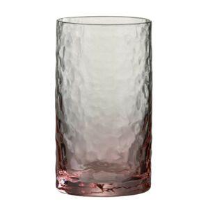 Růžová sklenička na vodu Verma - Ø7*13 cm