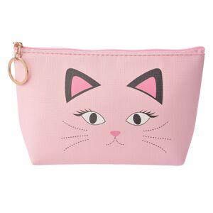 Růžová toaletní taška kočička - 21*12 cm