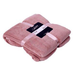 Růžový plyšový pléd Olaf old pink - 150*200 cm