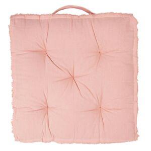 Růžový podsedák s výplní Dechiquete - 45*45*8 cm