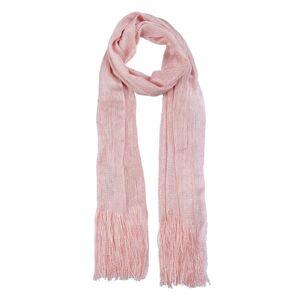 Růžový šátek se stříbrnou nití - 50*170 cm