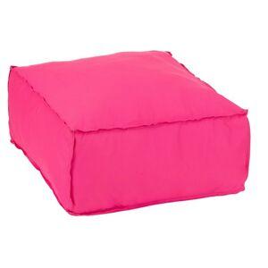 Růžový sedák / puf Hassock - 60*60*29 cm