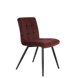 Sametová burgundy jídelní židle OLIVE - 44*82*50 cm