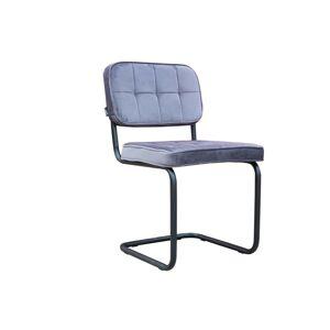 Šedá sametová jídelní židle Capri dark grey - 52*55*89 cm Collectione