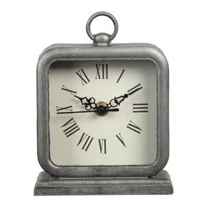 Šedé hranaté hodiny ve vintage stylu Mainard - 13*5*16 cm / 1*AA
