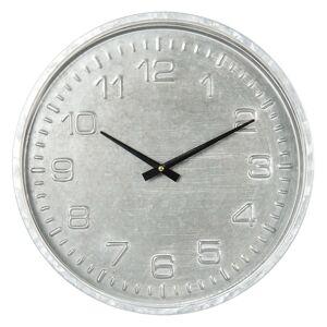 Šedé nástěnné hodiny v industriálním stylu - Ø 39*5 cm / 1*AA Clayre & Eef
