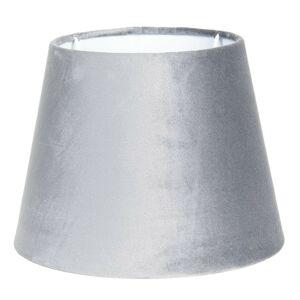 Šedé textilní stínidlo lampy - Ø 25*18 cm Clayre & Eef
