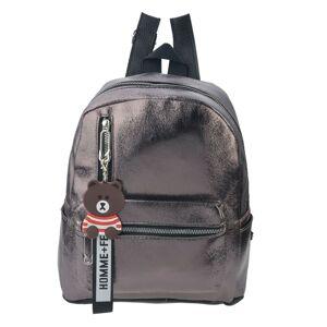 Šedý batoh s medvídkem Maude - 30*25*11 cm Clayre & Eef