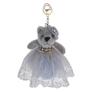 Šedý medvídek v tylové sukýnce na zavěšení - 20 cm