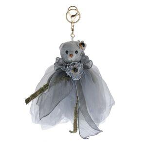 Šedý plyšový medvídek v tylové sukni na zavěšení - 20 cm
