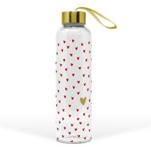 Skleněná láhev Aquarell Hearts - 550ml PPD