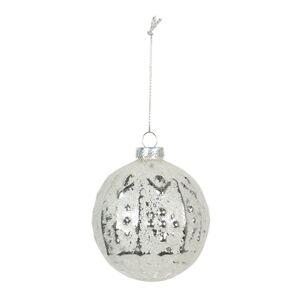 Skleněná vánoční ozdoba (sada 4ks) -Ø 8 cm