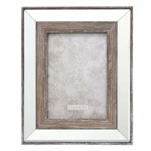 Skleněno-dřevěný fotorámeček Noel - 22*2*27 / 13*18 cm Clayre & Eef
